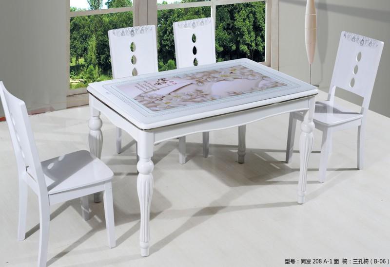 钢化玻璃餐桌3