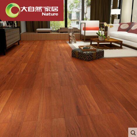 大自然野生原木地板纯实木地板二翅豆龙凤檀两色可选