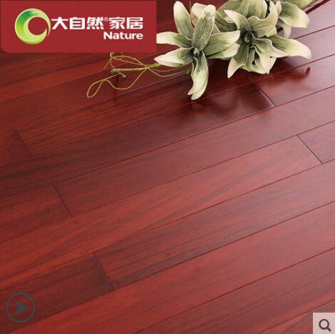 大自然野生原木地板实木地板二翅豆龙凤檀厂家直销两色