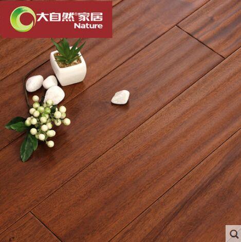 大自然野生原木地板实木地板卡雅楝 桃花芯木地热产品