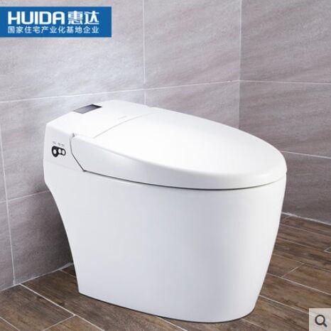 惠达卫浴家用无水箱全自动智能冲洗烘干马桶