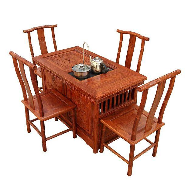 红木家具 国标红木 刺猬紫檀茶台 小玲珑茶台0016
