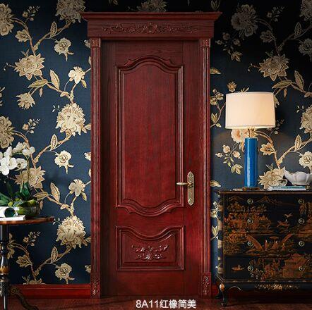 梦天木门时尚简欧水性漆室内门卧室门房间门 8A11