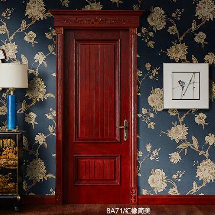 梦天木门时尚简欧水性漆室内门卧室门房间门 8A71