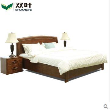 双叶家具 实木床抽屉可储物床1.5米1.8米水曲柳 现代中式卧室家具
