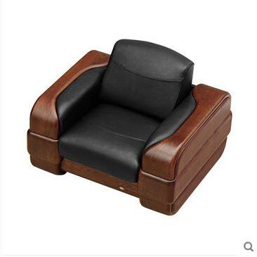 双叶家具 奢华主义 中式现代实木门客厅皮艺沙发