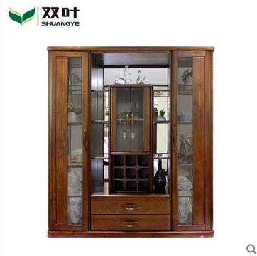 双叶家具 实木中式现代 大气 玻璃 储物 奢华餐厅 酒柜
