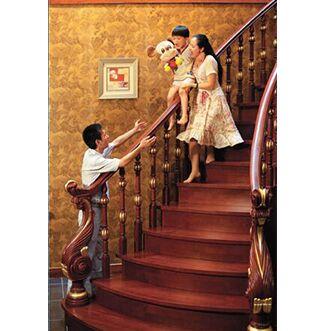 方城楼梯 实木楼梯22