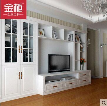 金柜欧式电视柜定制 客厅玻璃柜置物架展示柜