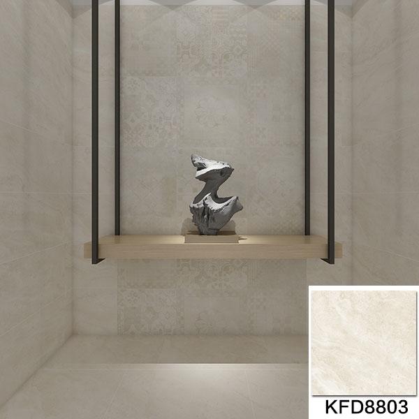 金艾陶15°缎光釉 泰坦米黄KFD8803