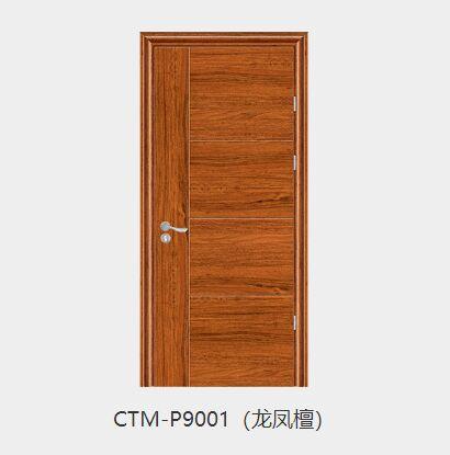 春天德式门CTM-P9001(龙凤檀)