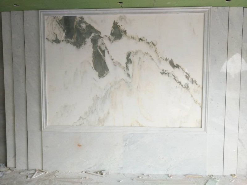 大理石背景墙案例分享
