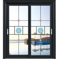金鑫福智能门窗1.2保罗系列-推拉门-氟碳黑18-088款