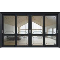 金鑫福智能门窗1.2保罗系列-推拉门-氟碳黑-18-082款