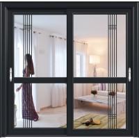 金鑫福智能门窗1.2保罗系列-推拉门-氟碳黑-18-084款