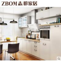 志邦厨柜 整体厨房 现代简约橱柜定制定做 北欧印象膜压板材