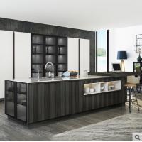志邦厨柜整 厨房橱柜装修 现代简约双饰面门板安心厨房