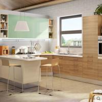 志邦厨柜整体橱柜定制巴尔维亚木纹 田园风格双饰面系列全屋定制