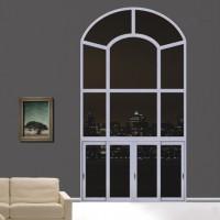 新豪轩门窗  轩朗断桥弧形推拉窗W15-001