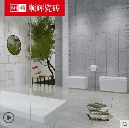 顺辉瓷砖 浴室墙砖300x600仿古砖防滑瓷砖欧恩11954