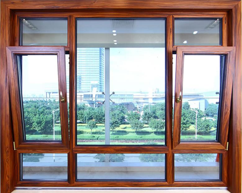 蓝卡门窗  88平开上悬铝木系列-02