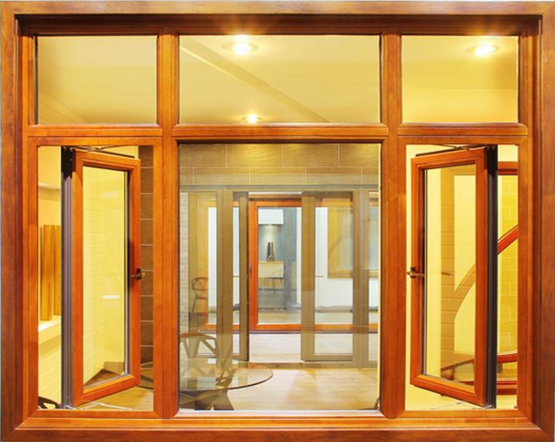 蓝卡门窗  98外平开铝木系列 -08