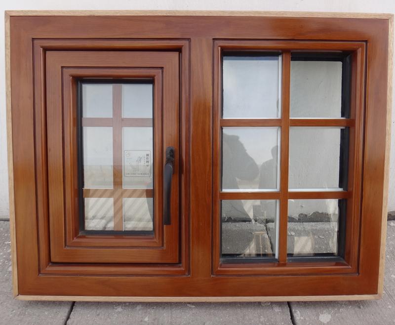 蓝卡门窗  98外平开铝木系列-07