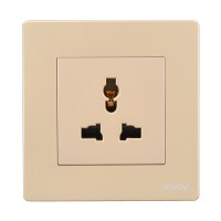 东方灯饰S9-联体大板金色开关插座