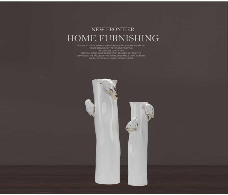 东方灯饰ZT白色陶瓷花瓶M125  M124