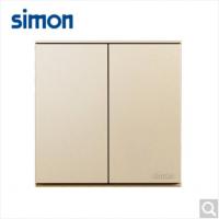西蒙(SIMON)西蒙开关插座E6系列大板香槟金二开单控