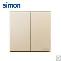 西蒙(SIMON)西蒙开关插座E6系列大板香槟金二开双控