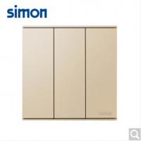 西蒙(SIMON)西蒙开关插座E6系列大板香槟金三开双控
