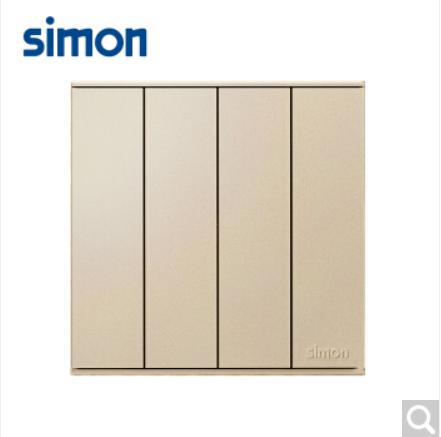 西蒙(SIMON)西蒙开关插座E6系列大板香槟金四开单控