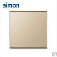 西蒙(SIMON)西蒙开关插座E6系列大板香槟金一开单控