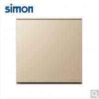 西蒙(SIMON)西蒙开关插座E6系列大板香槟金一开双控
