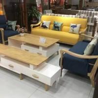 福星家具实木布艺沙发
