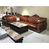 福星家具牛皮欧式沙发