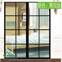 锦伟ios雷竞技黑拉丝玻璃推拉门1