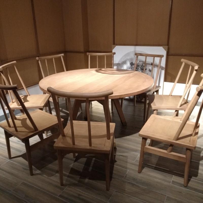 福星实木圆桌酒店桌