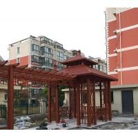 中式四角凉亭+葡萄架