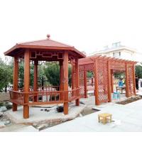 中式六角凉亭带葡萄架