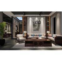 新中式实木客厅套装