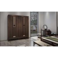卧室中的乌金木衣柜