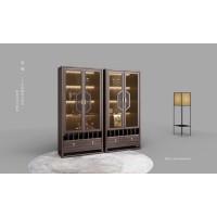 新中式实木酒柜