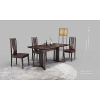 新中式复古实木餐桌