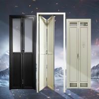 铝板折叠门加厚钛镁铝合金门定制平开门推拉门