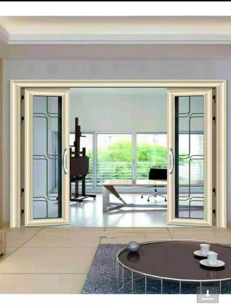 平开推拉一体门双层钢化玻璃铝镁合金隔断门