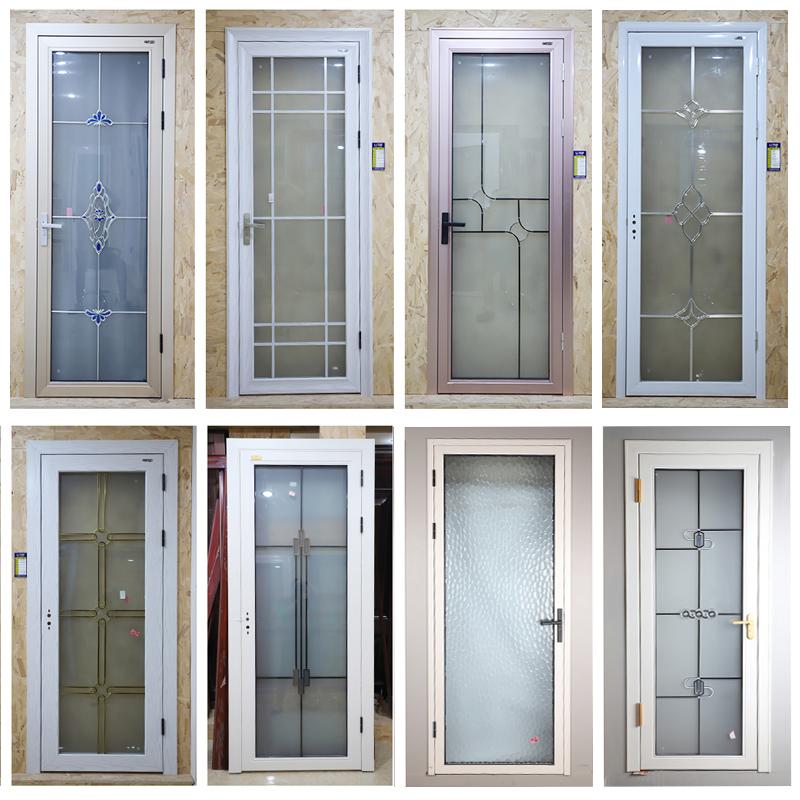 铝合金门双层钢化玻璃家用厨房门洗手间门