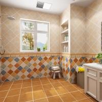 美式瓷砖卫生间仿古砖