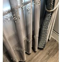 定制欧式美式简约现代客厅卧室阳台布帘纱帘飘窗落地窗帘